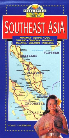 9781853687754: Southeast Asia Travel Map (Globetrotter Maps)
