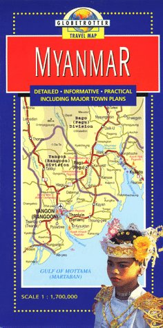 9781853687983: Myanmar (Globetrotter Travel Map)