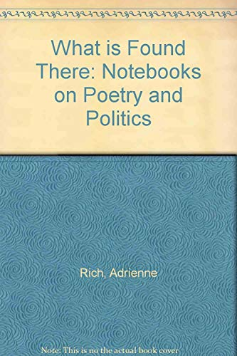 9781853818912: What is found there: notebooks on poetry and politics