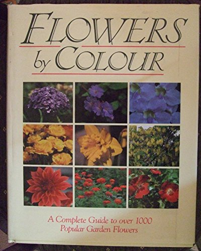 Flowers by Colour: Moody, Mary