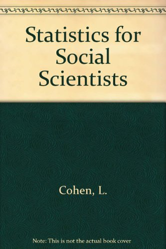 9781853961472: Statistics for Social Scientists