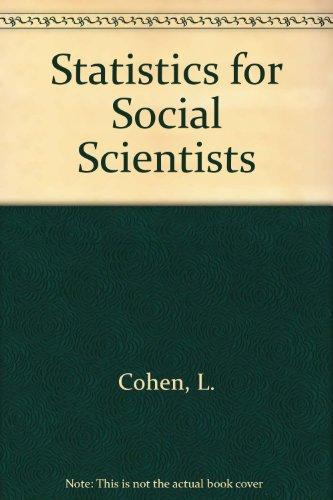 9781853961472: Statistics for Social Scientists