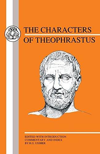 9781853991882: Characters of Theophrastus (Greek Texts)