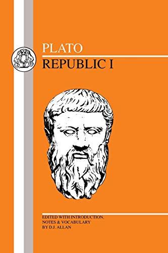 9781853992544: Plato: Republic I (Greek Texts) (Bk.1)