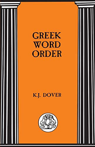9781853996047: Greek Word Order (Bcp Advanced Language S)