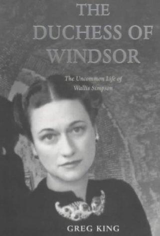 9781854107336: The Duchess of Windsor: Uncommon Life of Wallis Simpson
