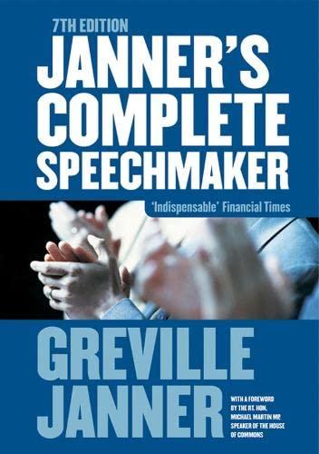 9781854182173: Janner's Complete Speechmaker