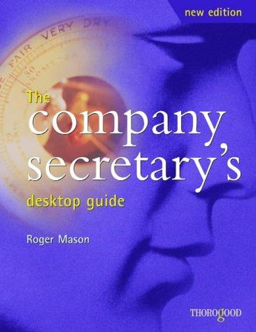 9781854182845: The Company Secretary's Desktop Guide