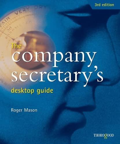 9781854183484: The Company Secretary's Desktop Guide (Desktop Guides)