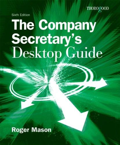 9781854185020: The Company Secretarys Desktop Guide
