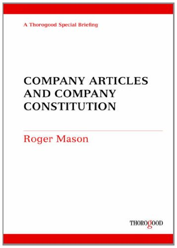 9781854187529: Company Articles and Company Constitution