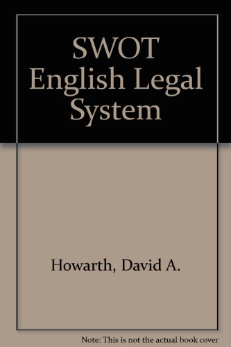 Swot English Legal System (Swot: Success Without Tears): n/a
