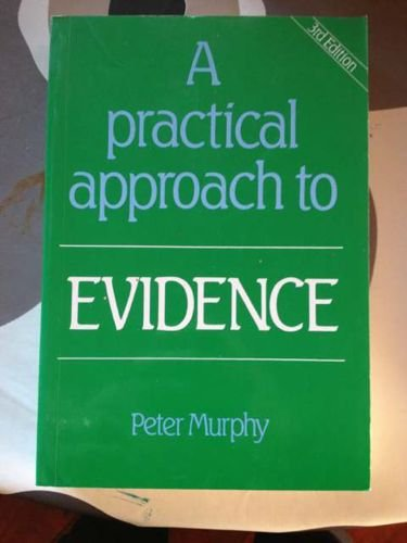 9781854310255: A Practical Approach to Evidence (Practical Approach)