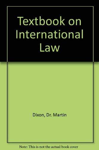 9781854310682: Textbook on International Law