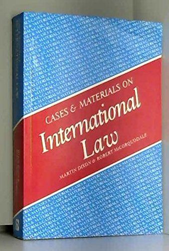 9781854311238: Cases and Materials on International Law (Cases & materials)