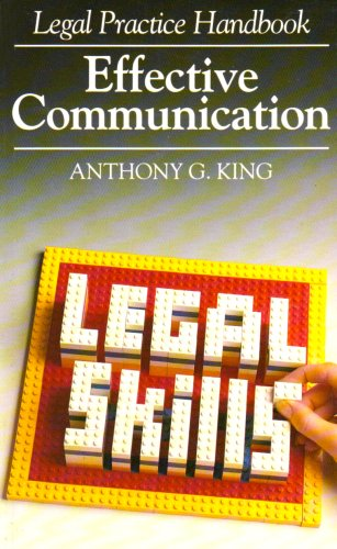 9781854311658: Legal Practice Handbook: Effective Communication (Legal Practice Handbooks)