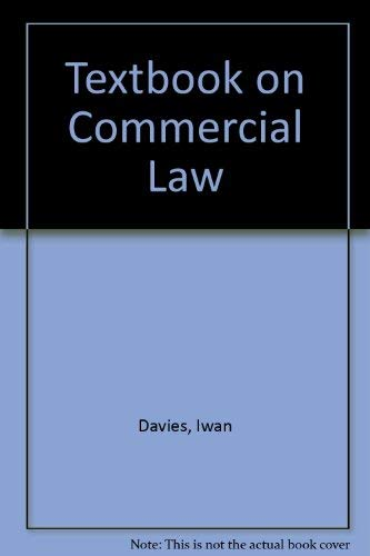 9781854311955: Textbook on Commercial Law