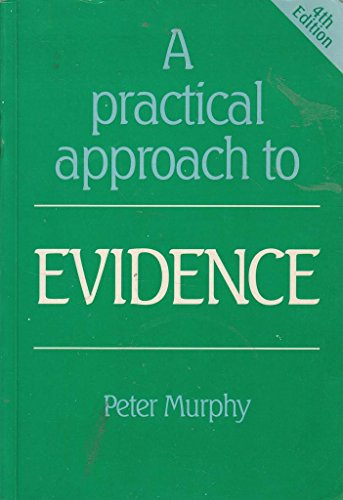 9781854312235: A Practical Approach to Evidence (Practical Approach)