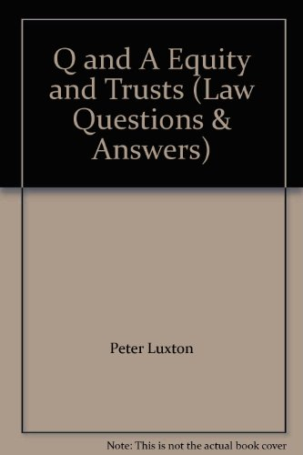 9781854313058: Q and A Equity and Trusts (Law Questions & Answers)