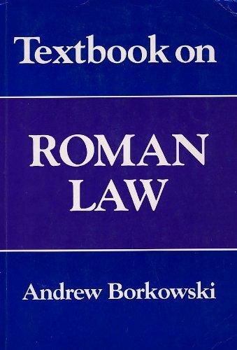 9781854313133: Textbook on Roman Law