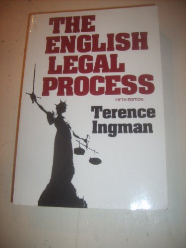 9781854313317: The English Legal Process