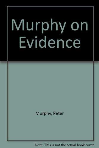 9781854313737: Murphy on Evidence