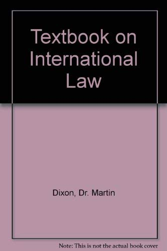 9781854314444: Textbook on International Law