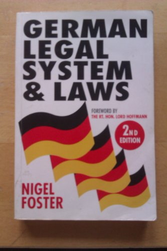 9781854314505: German Legal System and Laws