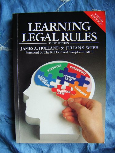 9781854315359: Learning Legal Rules
