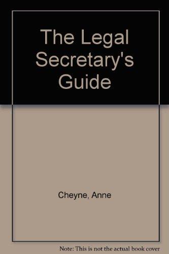 9781854315489 the legal secretary s guide abebooks ann cheyne rh abebooks com Legal Secretary Services Legal Symbols in Pink