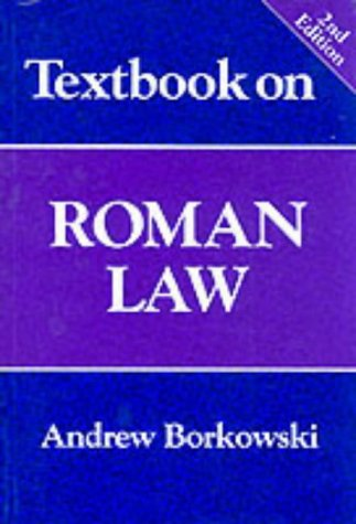 9781854316424: Textbook on Roman Law