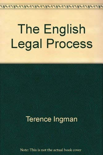 9781854317575: The English Legal Process