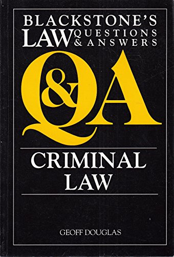 Criminal Law (Law Questions & Answers): Douglas, Geoff