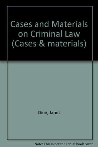 9781854317643: Cases and Materials on Criminal Law. Second Edition.