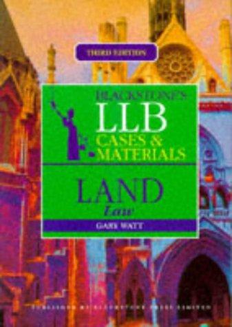 9781854318251: LLB Cases and Materials: Land Law (Blackstones LLB Cases & Materials)