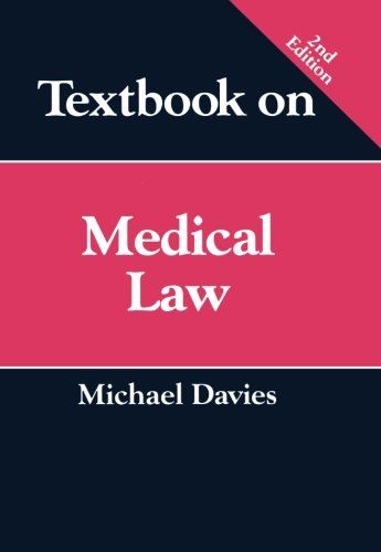 Textbook on Medical Law (9781854318428) by Michael Davies