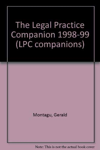 9781854318626: The Legal Practice Companion 1998-99 (LPC companions)