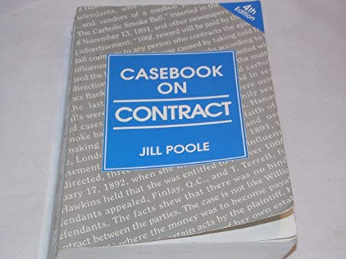 Casebook on Contract: Jill Poole