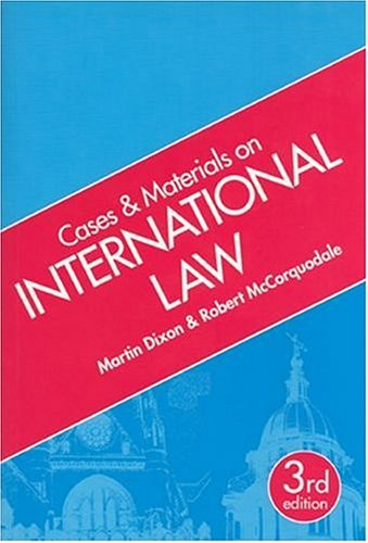 9781854318800: Cases and Materials on International Law (Cases & materials)