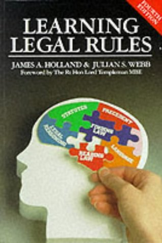 9781854318893: Learning Legal Rules