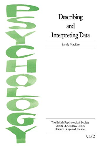 9781854331144: Describing and Interpreting Data (Open Learning Units)
