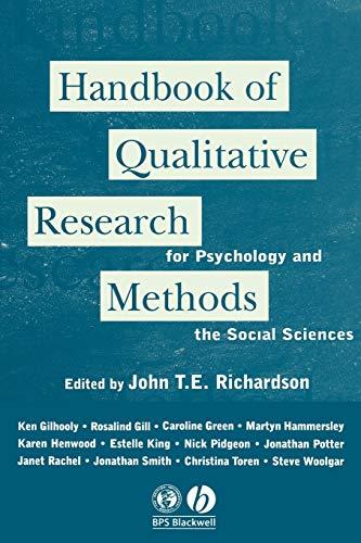 Handbook of Qualitative Research Methods for Psychology: John T. E.