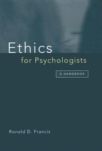 9781854332707: Ethics for Psychologists: A Handbook