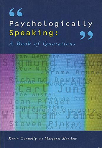 9781854333025: Psychologically Speaking: A Book of Quotations
