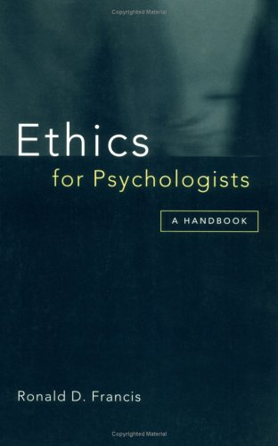 9781854333063: Ethics for Psychologists: A Handbook