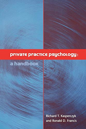 9781854333438: Private Practice Psychology: A Handbook