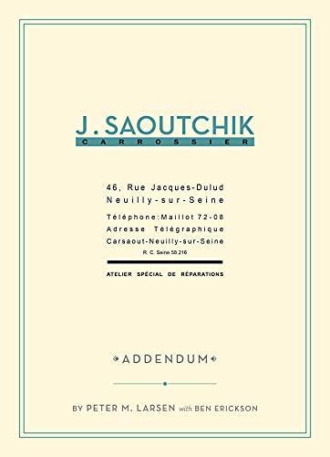 9781854432735: J. Saoutchik Carrossier. Addendum.