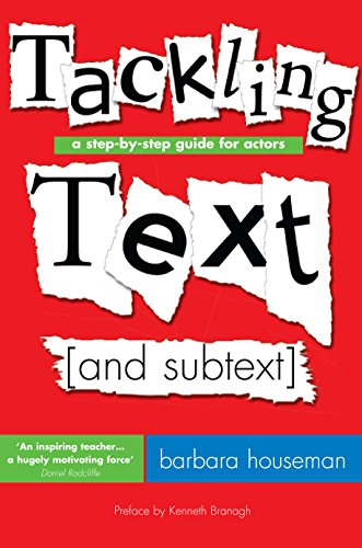 9781854597991: Tackling Text (and Subtext): A Step by Step Guide for Actors