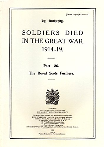 Soldiers Died in the Great War, 1914-19: N/A