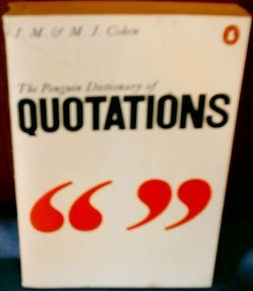 9781854710703: Penguin Dictionary of Quotations